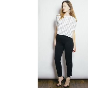 American Apparel Pants - Black Ponte Tap Pant