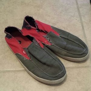 Shoes - Red and gray sliders