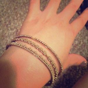 Gold tone bangle bracelets!