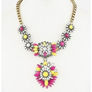 Eyecatching Neon Statement Necklace