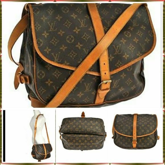 786807890657 Louis Vuitton Handbags - AUTHENTIC LOUIS VUITTON SAUMUR 35 MESSENGER BAG