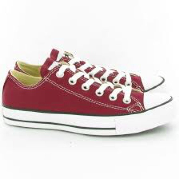 converse shoes burgundy