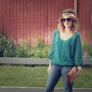 Max Studio Tops - Flowy Teal Blouse
