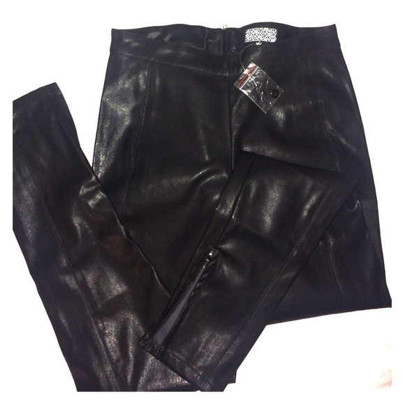 Lucca Couture Pants - Black Lucca Couture Instigate Faux Leather Pants