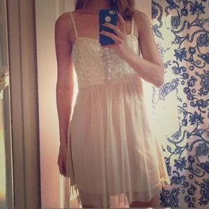 Lulu's lace and tulle dress- Medium
