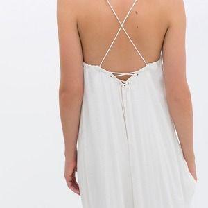 253b9733f89 Zara Dresses | Backless White Maxi Long Dress | Poshmark