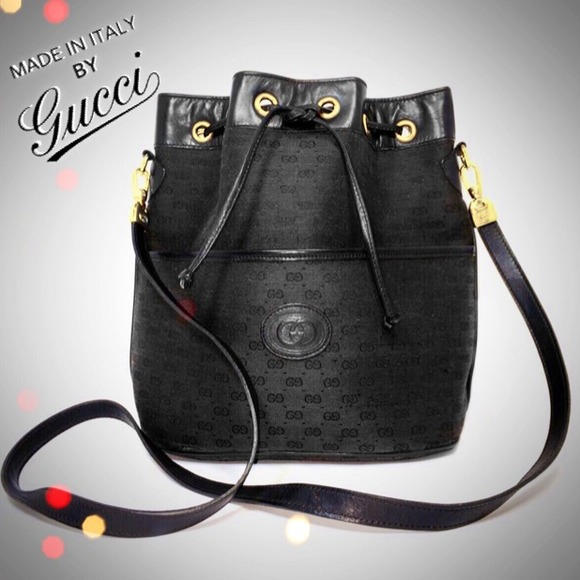 6ac6f4565933 Gucci Bags | Sold Black Gg Monogram Bucket Bag Purse | Poshmark