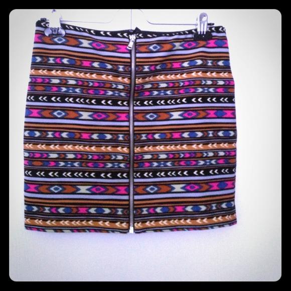Forever 21 Skirts - Tribal mini skirt