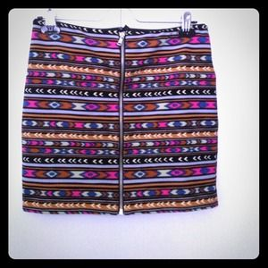 Tribal mini skirt