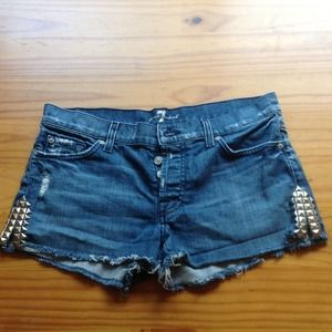 7 For all Mankind Premium Denim Shorts