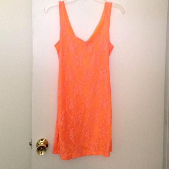Dresses & Skirts - Orange lace dress