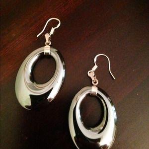 Jewelry - Hematite / sterling silver earrings