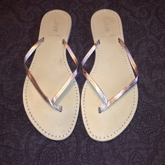 0357b26dc219 J. Crew Shoes - J. Crew Rose Gold Capri Sandals