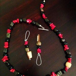 Jewelry - Multi-gemstone toggle necklace set