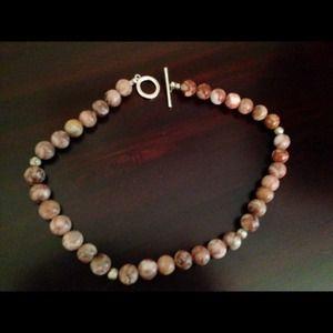 Jewelry - Jasper stone toggle necklace