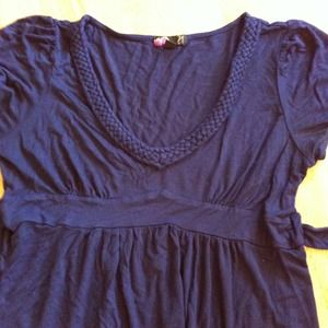 Forever 21 Tops - Navy F21 braided top