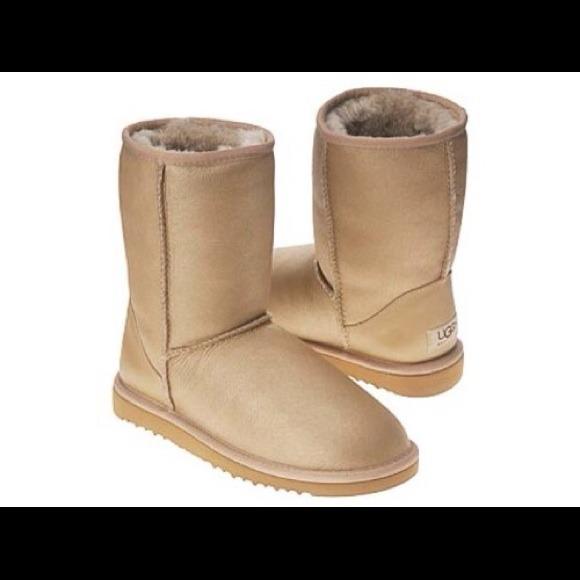 Gold Metallic UGG Boots NWOT