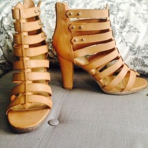 Shoes - Gladiator strappy heels