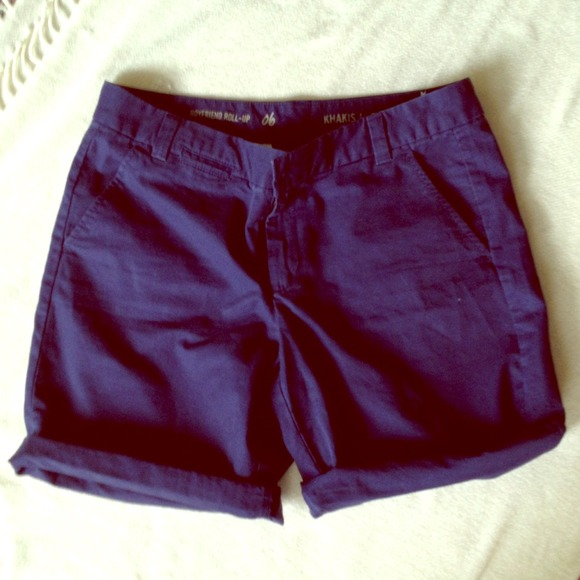 60% off GAP Pants - GAP boyfriend roll-up khaki shorts from E's ...