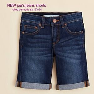 Joe's Jeans Pants - NEW joe's jeans rolled bermuda shorts sz 12y/24