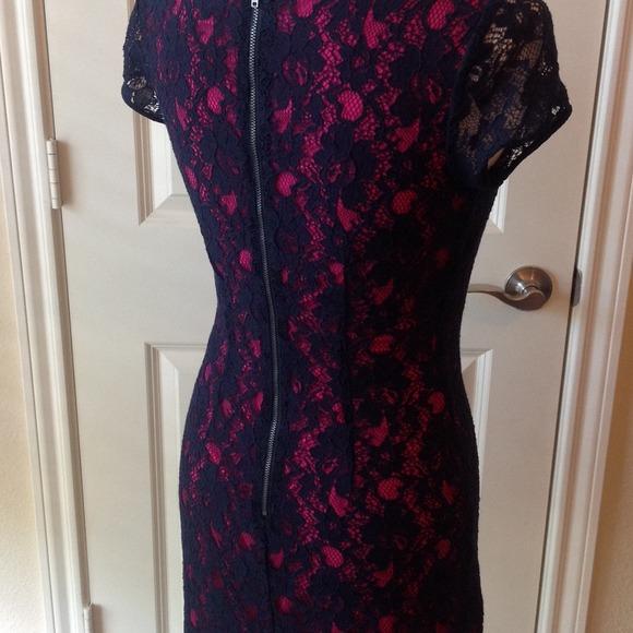 Banana Republic Dresses - BRAND NEW navy all lace dress. Banana Republic 00p