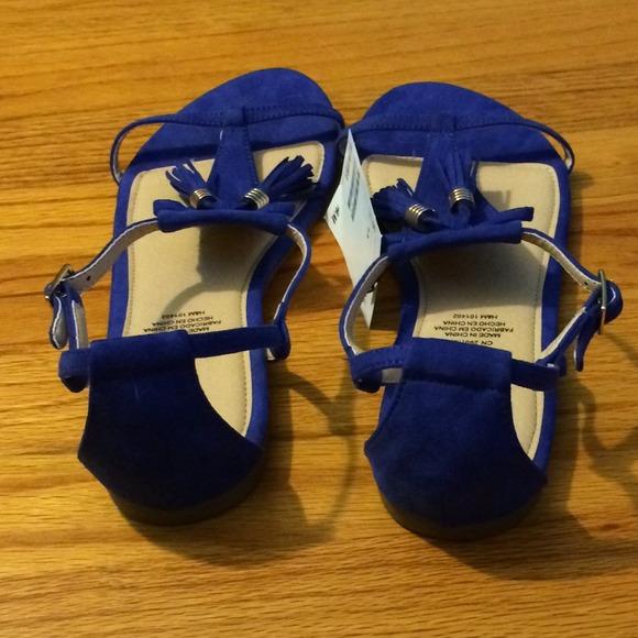Blue Fringe Sandals 2 H&m