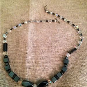 Jewelry - Austrian Crystal and hematite toggle necklace