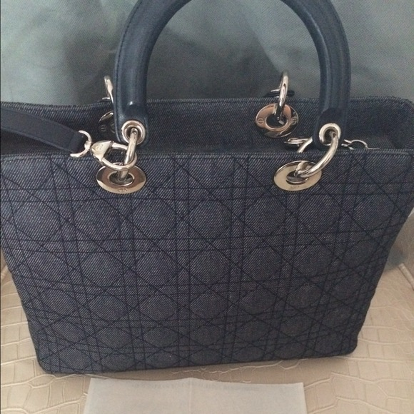 Dior Bags   Sold Authentic Lady Large Size With Strap   Poshmark d0d2792ef0