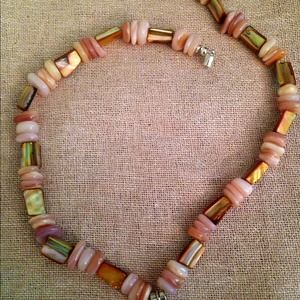 Jewelry - Mother-of-pearl John toggle necklace