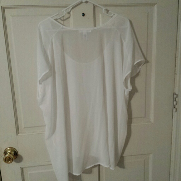 High Low Shirts Forever 21 Forever 21 White Sheer High