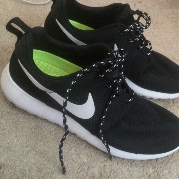 19% off Nike Shoes - black and white nike roshes women ON HOLD