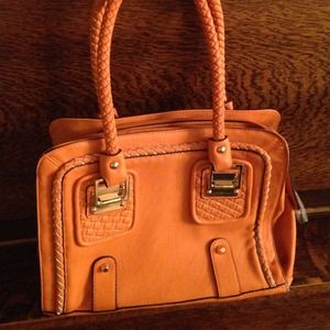 Orange Purse ShoeDazzle NWOT