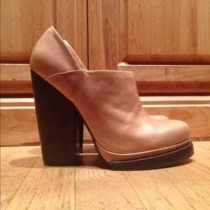 Jeffrey Campbell Taupe Ankle Boots