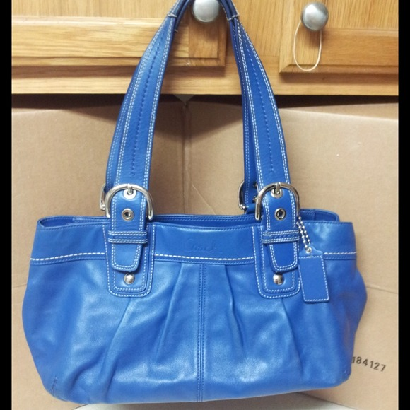 79% off Coach Handbags - 🌟CCO Two Days🌟✨Royal Blue Leather ...