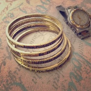 Jewelry - - message on a bangle -