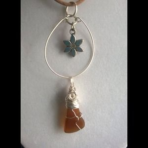 Genuine Sea Glass Pendant
