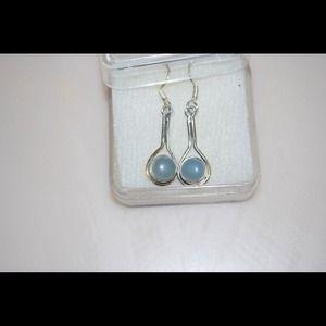 Jewelry - Blue Agate Dangle Earrings