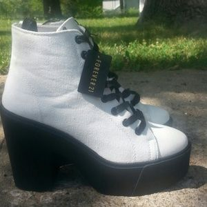 c93f14ae2ee Forever 21 Shoes - standOUT Canvas Booties From Forever 21