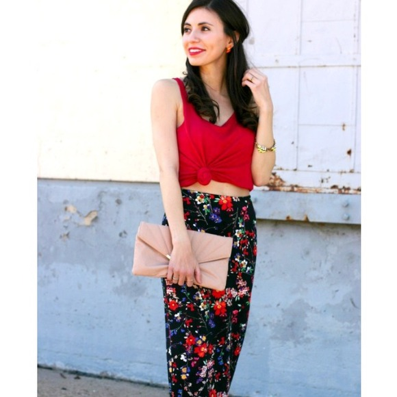 75% off Express Dresses & Skirts - Express high waist floral ...