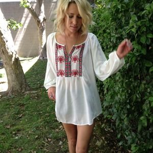 Tops - Embroidered Mexican  blouse