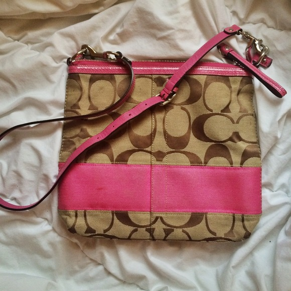 Pink And White Coach Purses Pink And Brown Coach Purse