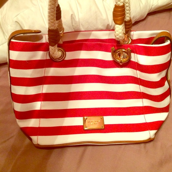40% off Michael Kors Handbags - *SOLD* Red & white striped Michael ...