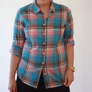 J. Crew Tops - Jcrew plaid shirt