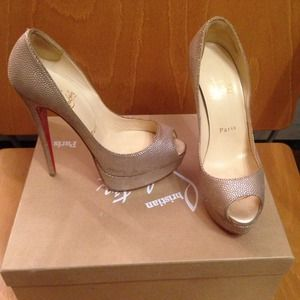 Christian Louboutin 150mm lady peeps gold 36.5