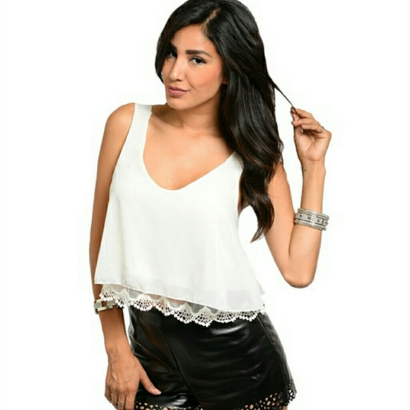 Charlotte Russe Tops - ☆AVAILABLE ☆ HP ☆ NWT Ivory Top