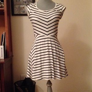 Black and white striped H&M dress