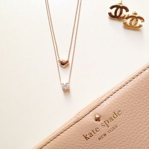 Heart and Solitaire Necklaces