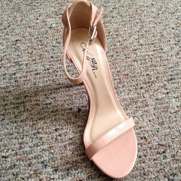 24% off Shoes - Blush pink ankle strap heels from Cindy's closet ...