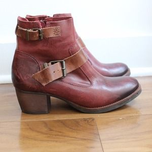 Shoes - *BUNDLE* NEW Matisse x LF Red/Brown Leather Boots