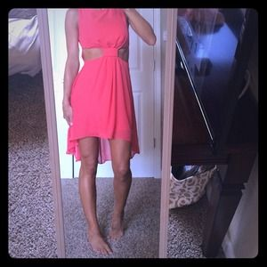 Beautiful cut out red dress small